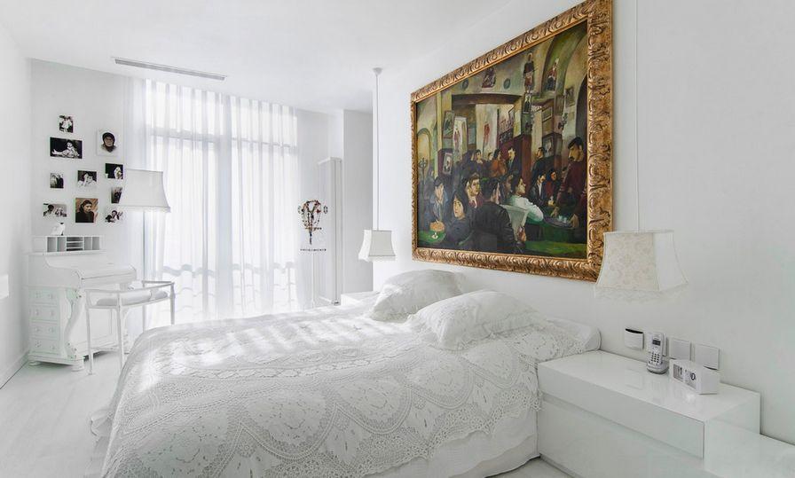 белая спальня фото видов