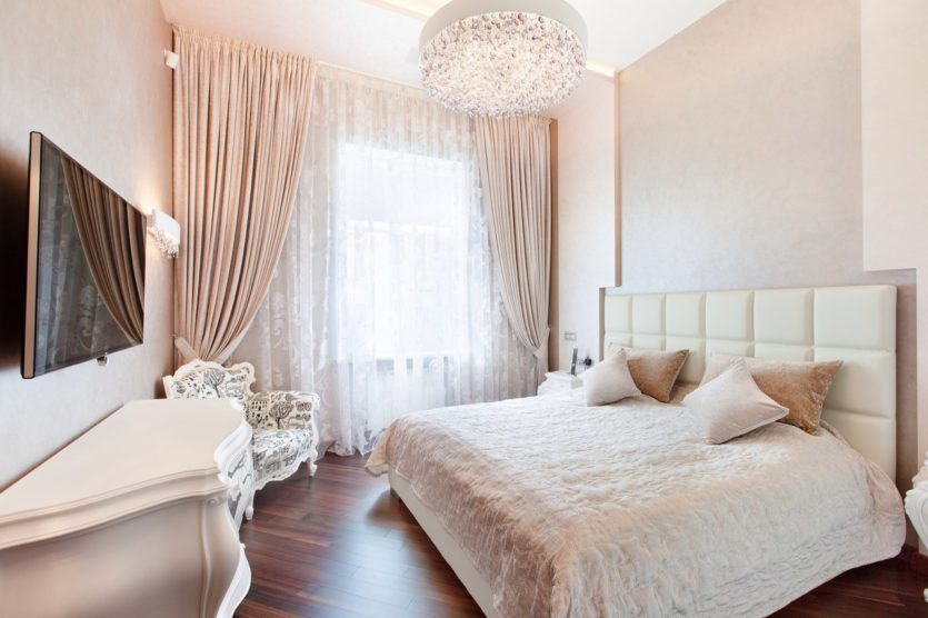 белая спальня виды