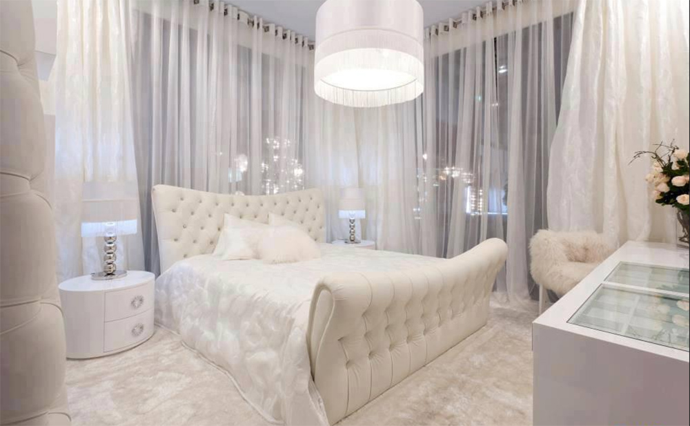 белая спальня декор фото