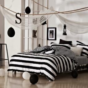 белая спальня фото декор