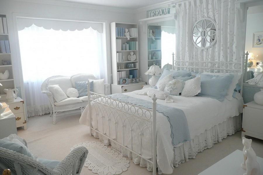 белая спальня идеи декора