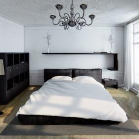 белая спальня оформление