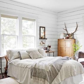 белая спальня оформление фото