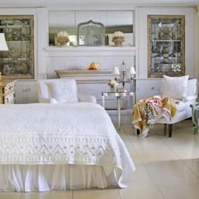 белая спальня варианты идеи