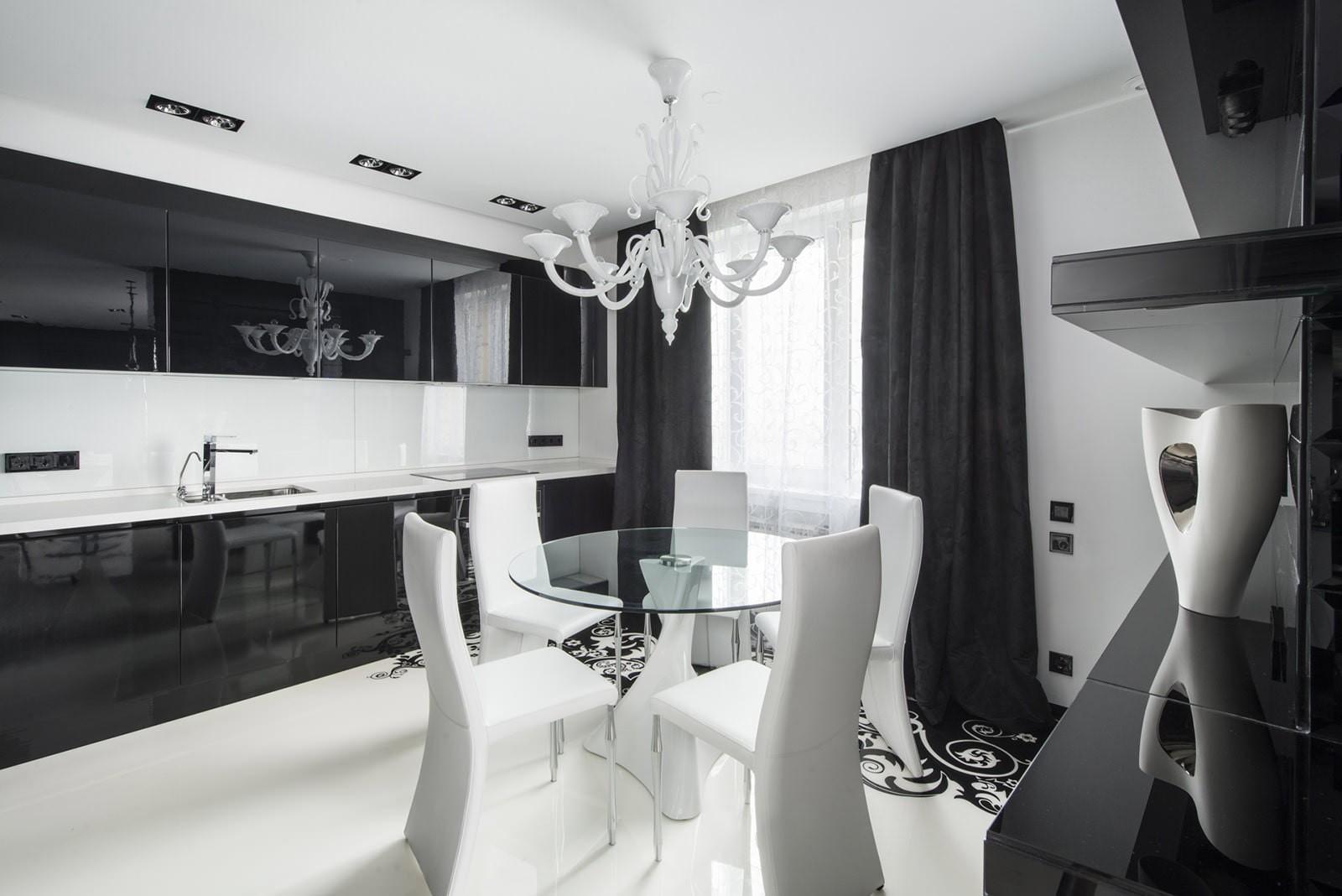 черно белая квартира фото декор