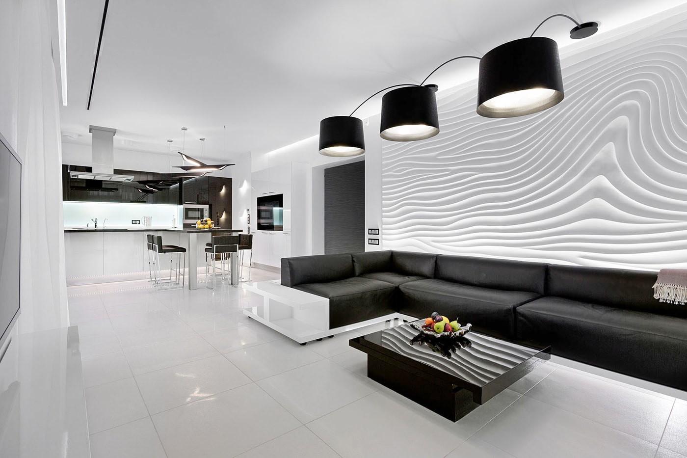 черно белая квартира фото декора
