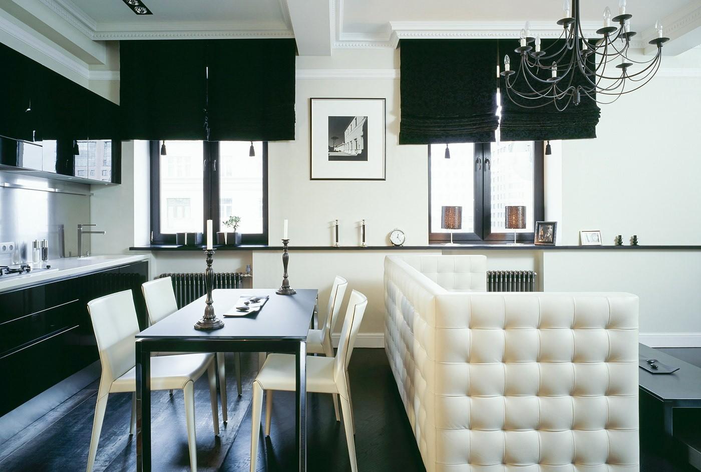 черно белая квартира фото дизайна