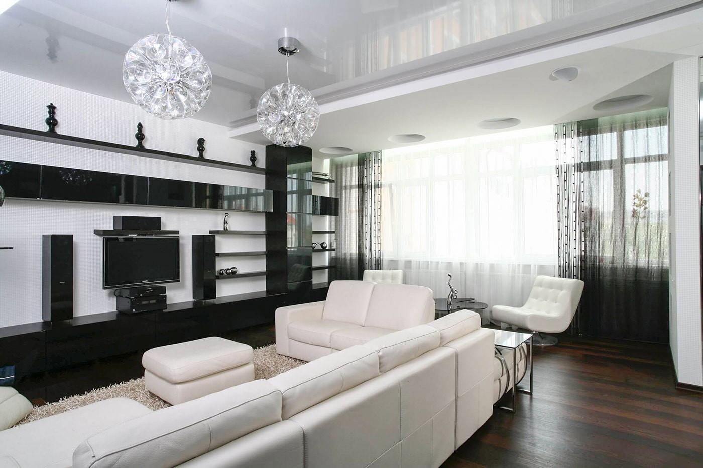 черно белая квартира идеи дизайна