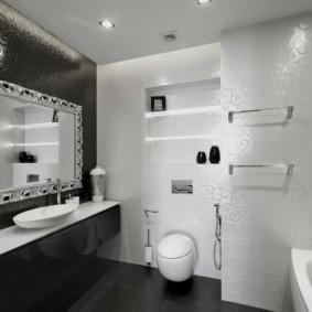 черно белая квартира интерьер фото