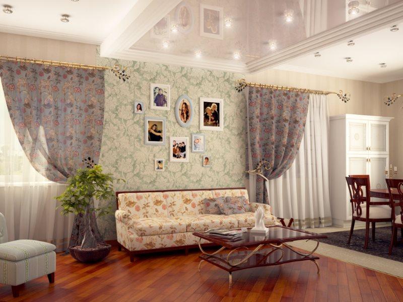 Декор фотографиями стены в квартире-студии