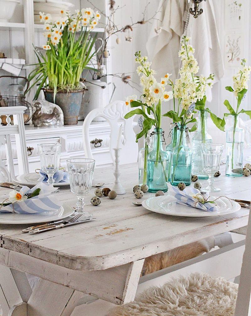 Декор цветами кухни в городской квартире
