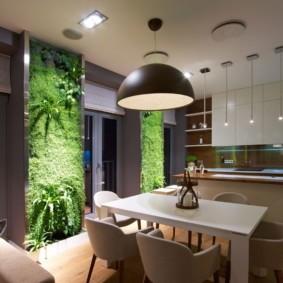 декор стен на кухне идеи интерьер