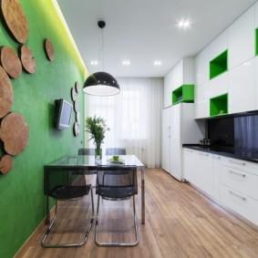 декор стен на кухне оформление