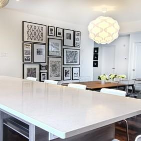 декор стен на кухне оформление фото