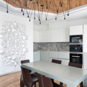 декор стен на кухне идеи оформление