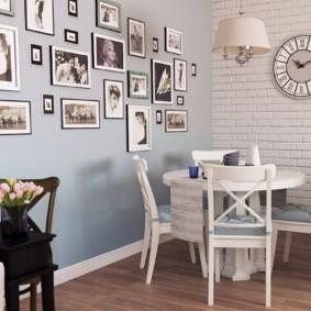 декор стен на кухне виды фото
