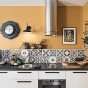 декор стен на кухне виды идеи