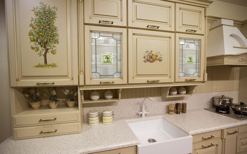 Декупаж фасадов кухонного гарнитура