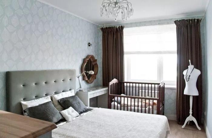 спальня и детская в одной комнате дизайн интерьер