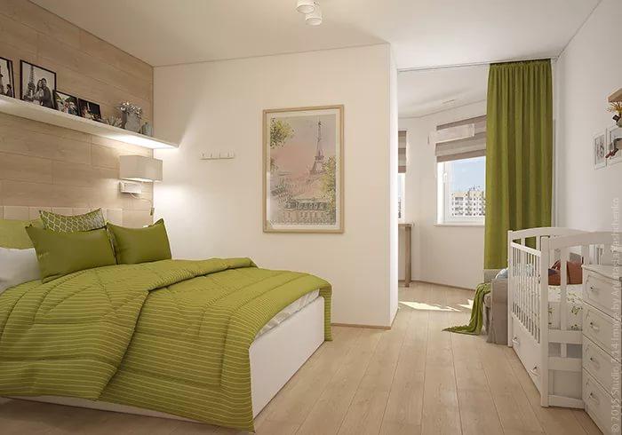 спальня и детская в одной комнате дизайн интерьера