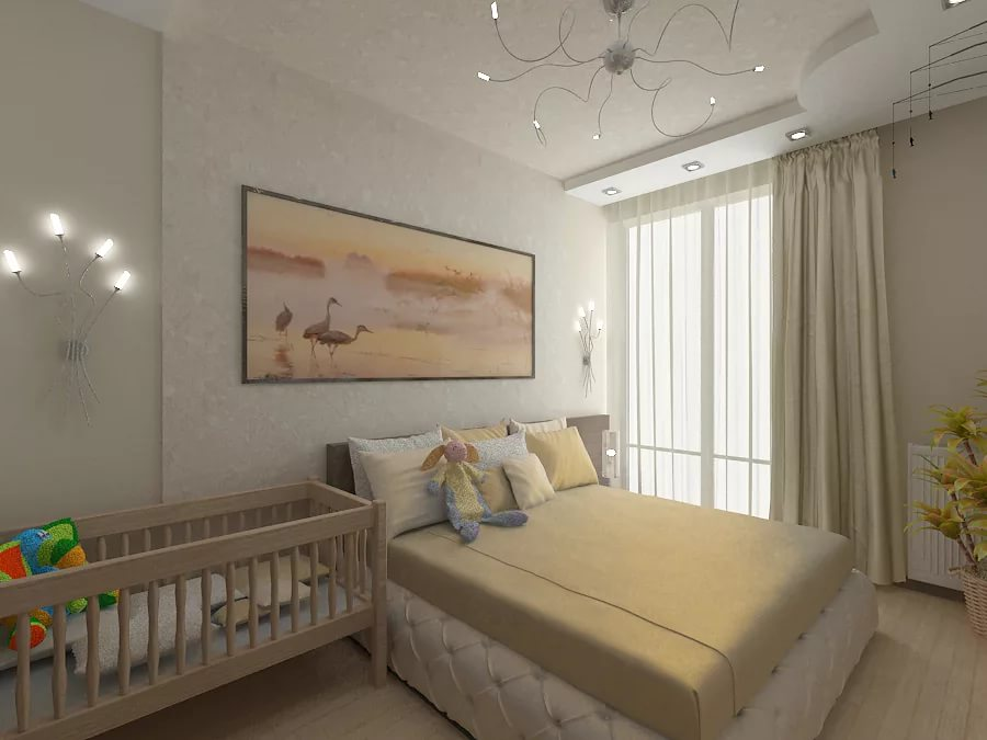 спальня и детская в одной комнате идеи дизайн