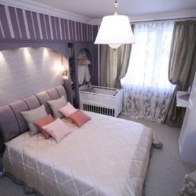 спальня и детская в одной комнате идеи интерьер