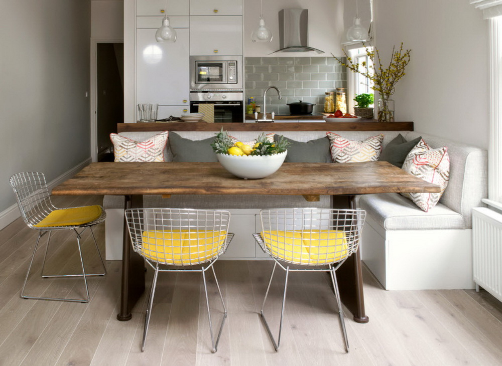 диван кушетка для кухни декор идеи