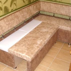диван кушетка для кухни фото