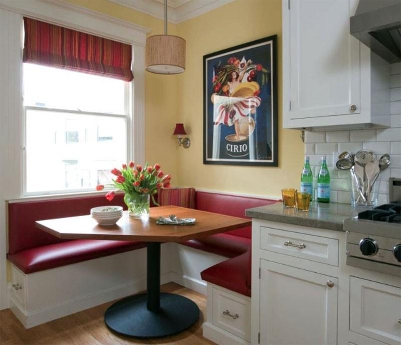 диван кушетка для кухни идеи оформление