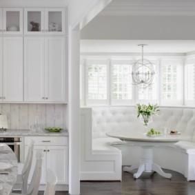 диван кушетка для кухни интерьер