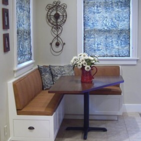 диван кушетка для кухни фото идеи