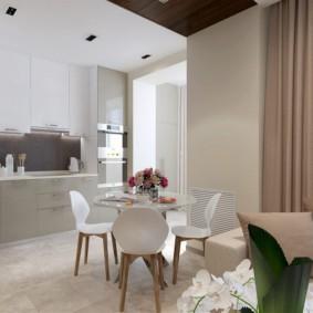 кухня совмещенная с балконом фото дизайн