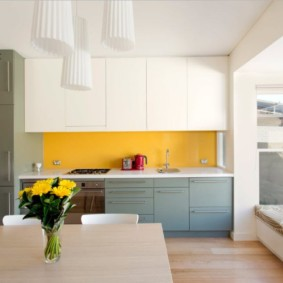 кухня совмещенная с балконом фото виды