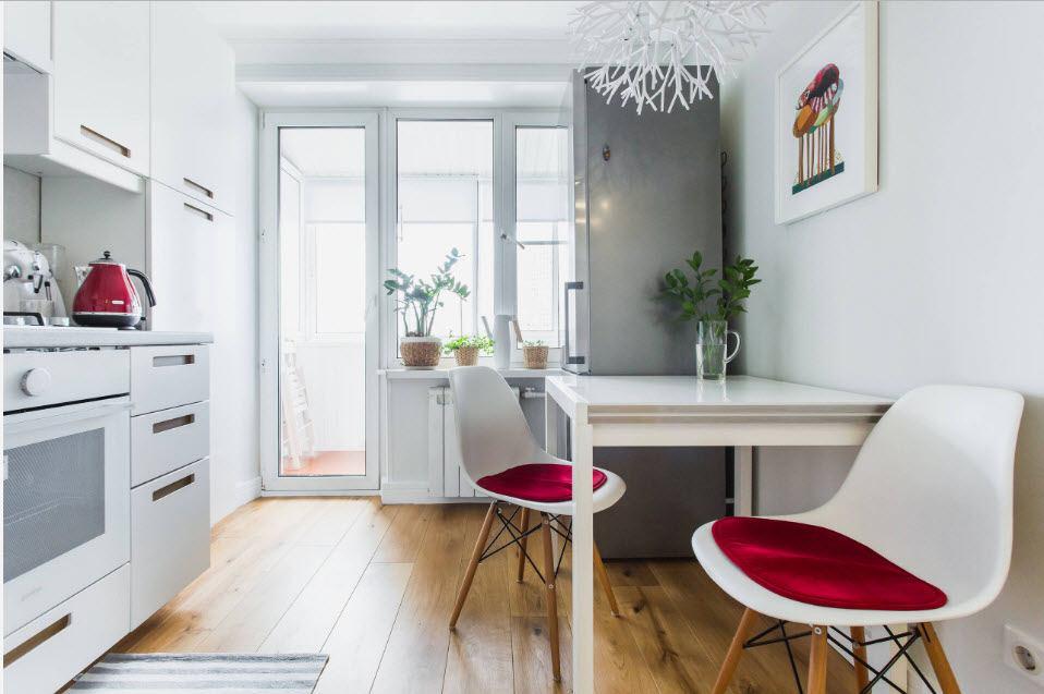 кухня совмещенная с балконом идеи дизайна