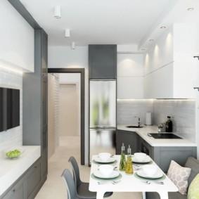 кухня совмещенная с балконом идеи интерьера