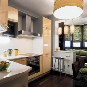 кухня совмещенная с балконом виды дизайна