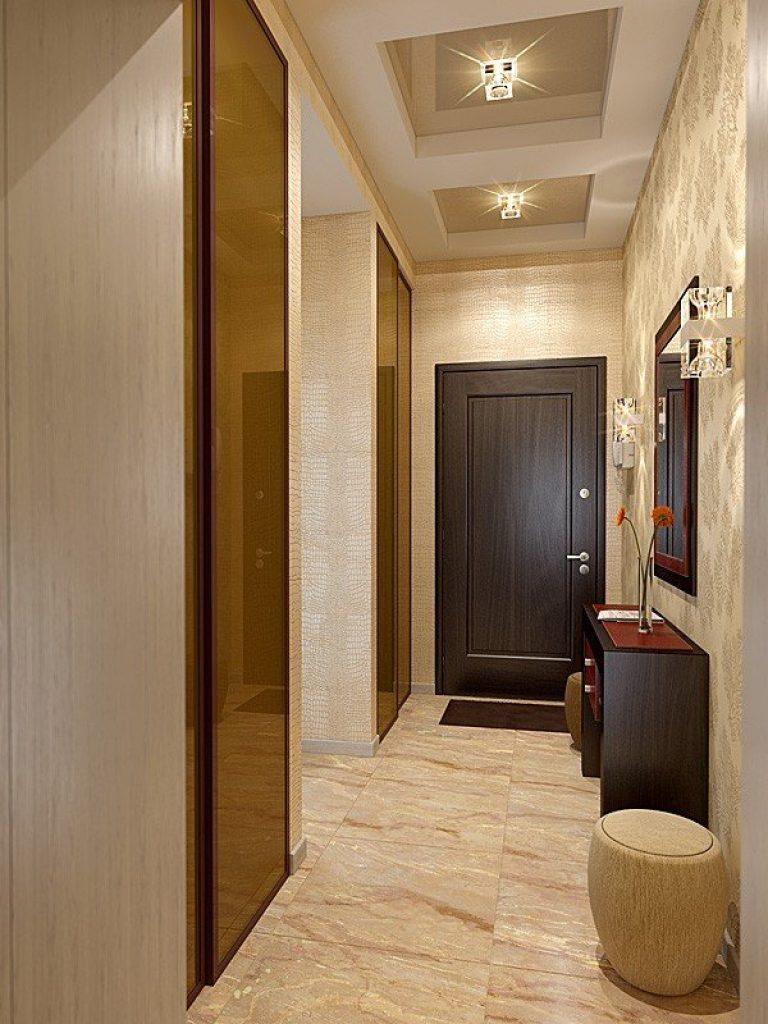 дизайн узкого и длинного коридора