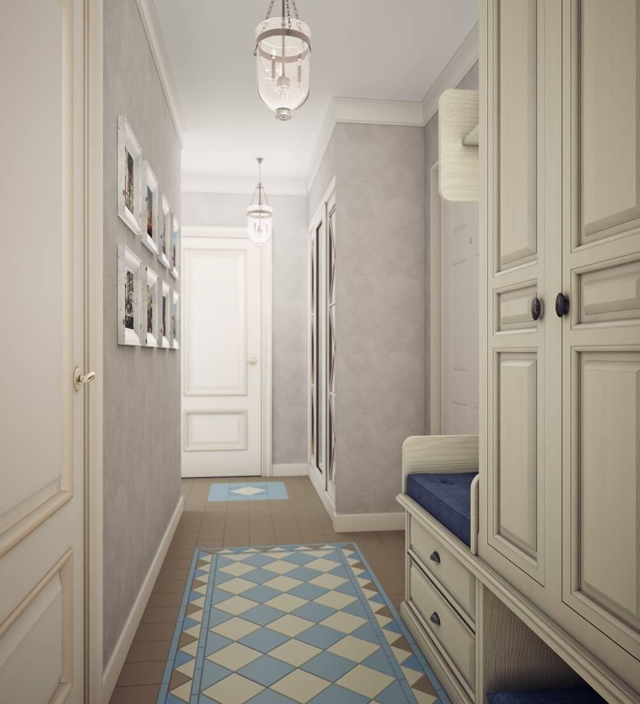 дизайн длинного узкого коридора