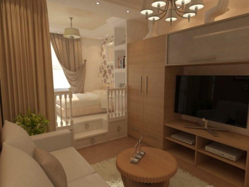 дизайн гостиной с детской в одной комнате