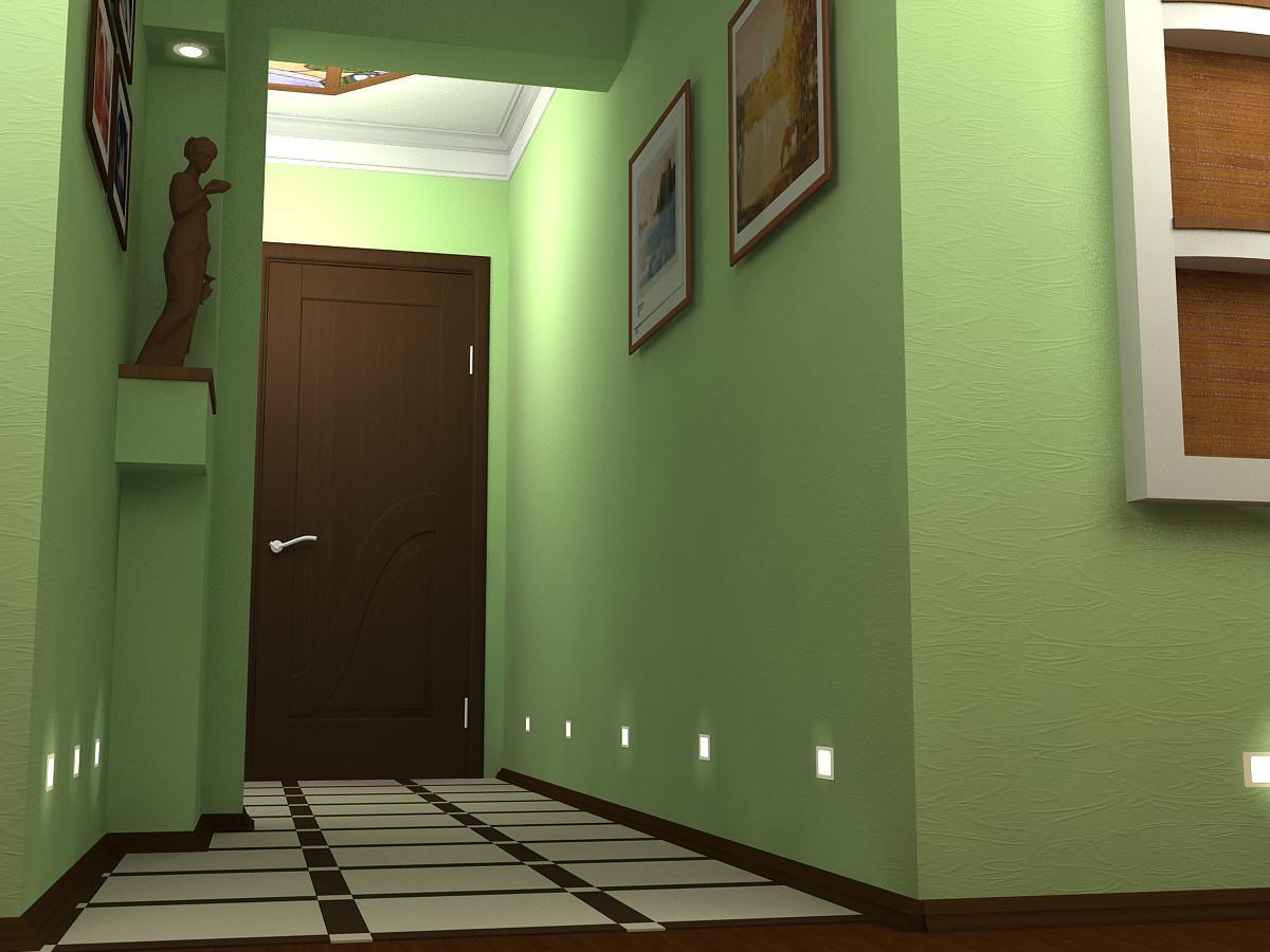 коридор в квартире панельного дома