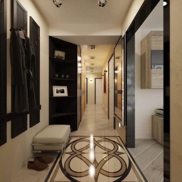 дизайн коридора в квартире панельного дома