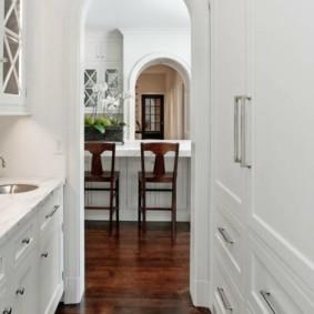 дизайн кухни с аркой декор