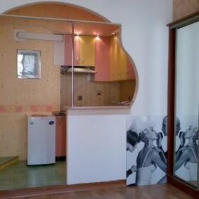 дизайн кухни с аркой декор фото