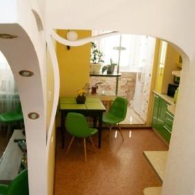 дизайн кухни с аркой декор идеи