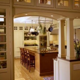 дизайн кухни с аркой фото декор