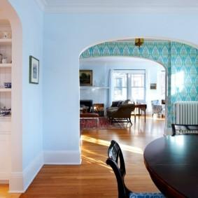 дизайн кухни с аркой фото декора