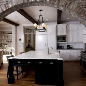дизайн кухни с аркой фото идеи