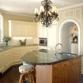 дизайн кухни с аркой фото интерьера
