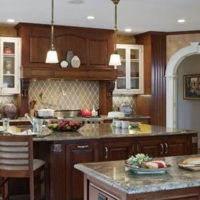 дизайн кухни с аркой идеи