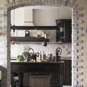 дизайн кухни с аркой идеи декор